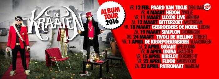Kraaien album tour 2016